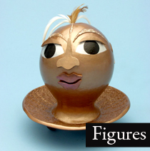 Gourd figure, Little Spirit Head I, by Sala Faruq.